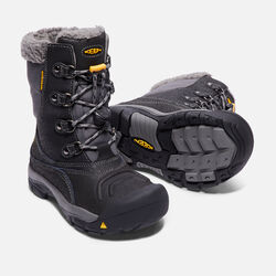 Little Kids' Basin Waterproof Boot in Black/Gargoyle - small view.