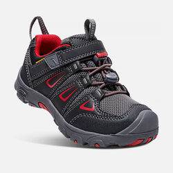 Little Kids' Oakridge Waterproof in Black/Tango Red - small view.