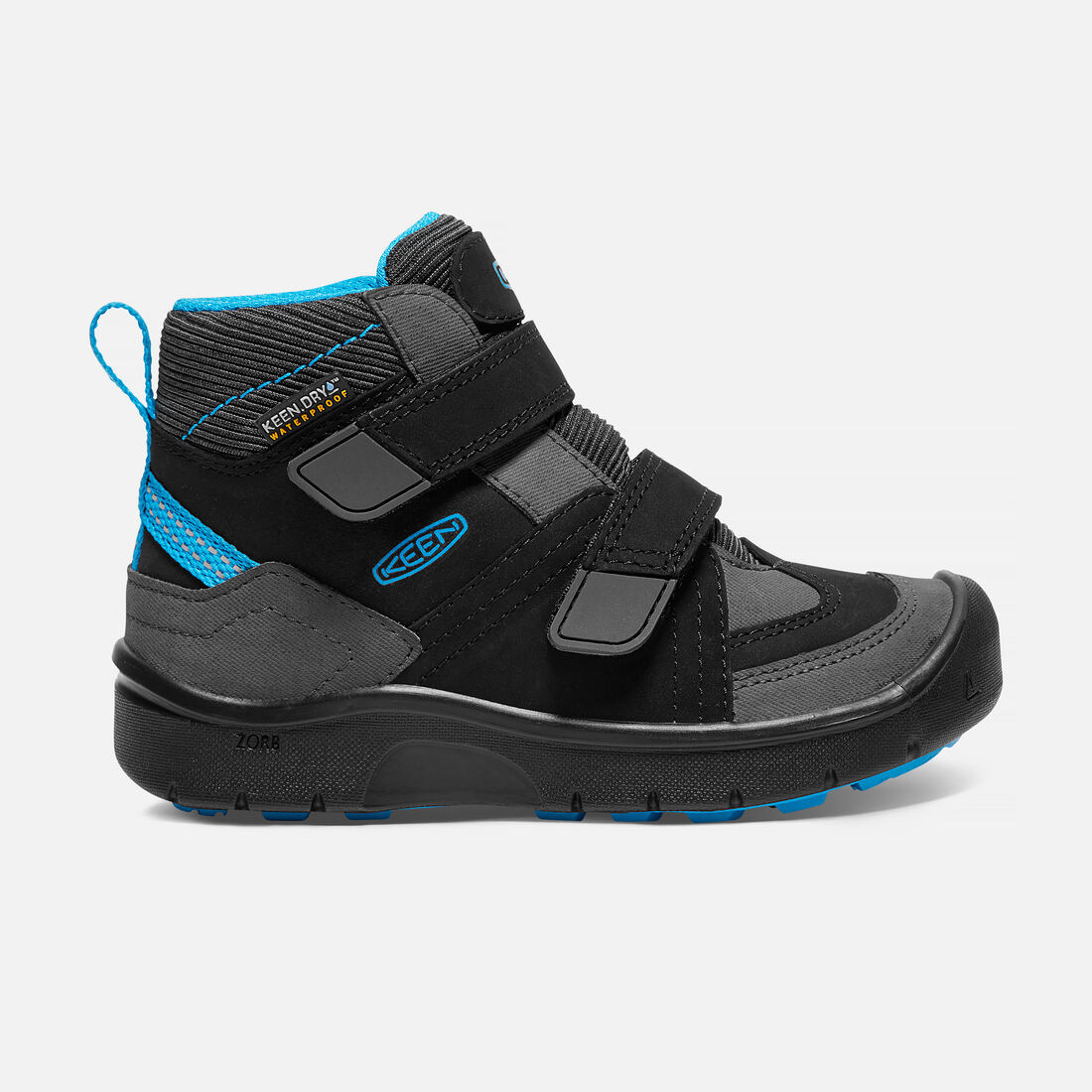 Little Kids' HIKEPORT MID STRAP Waterproof in Black/Blue Jewel - large view.