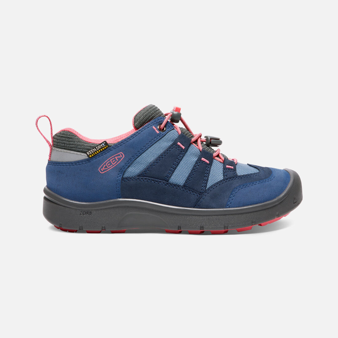 Big Kids' HIKEPORT Waterproof in Dress Blues/Sugar Coral - large view.