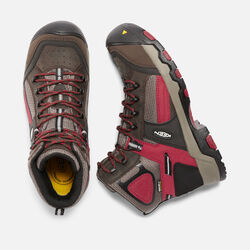 Men's DAVENPORT MID Waterproof (Composite Toe) in Cascade Brown/Red Dahlia - small view.