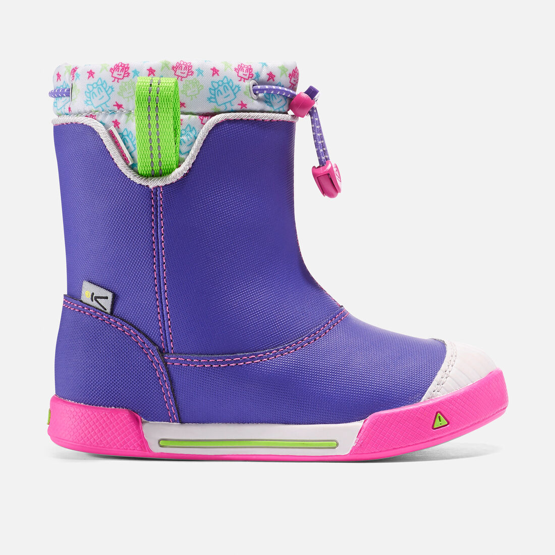 Little Kids' Encanto Waterproof Boot in Liberty/Very Berry - large view.