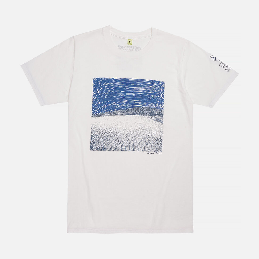 Men's Mojave Trails, CA Tee in White - large view.