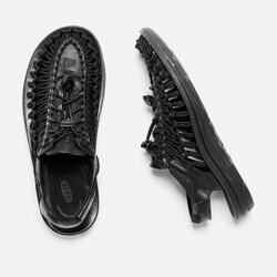 Men's UNEEK LEATHER in Black/Raven - small view.