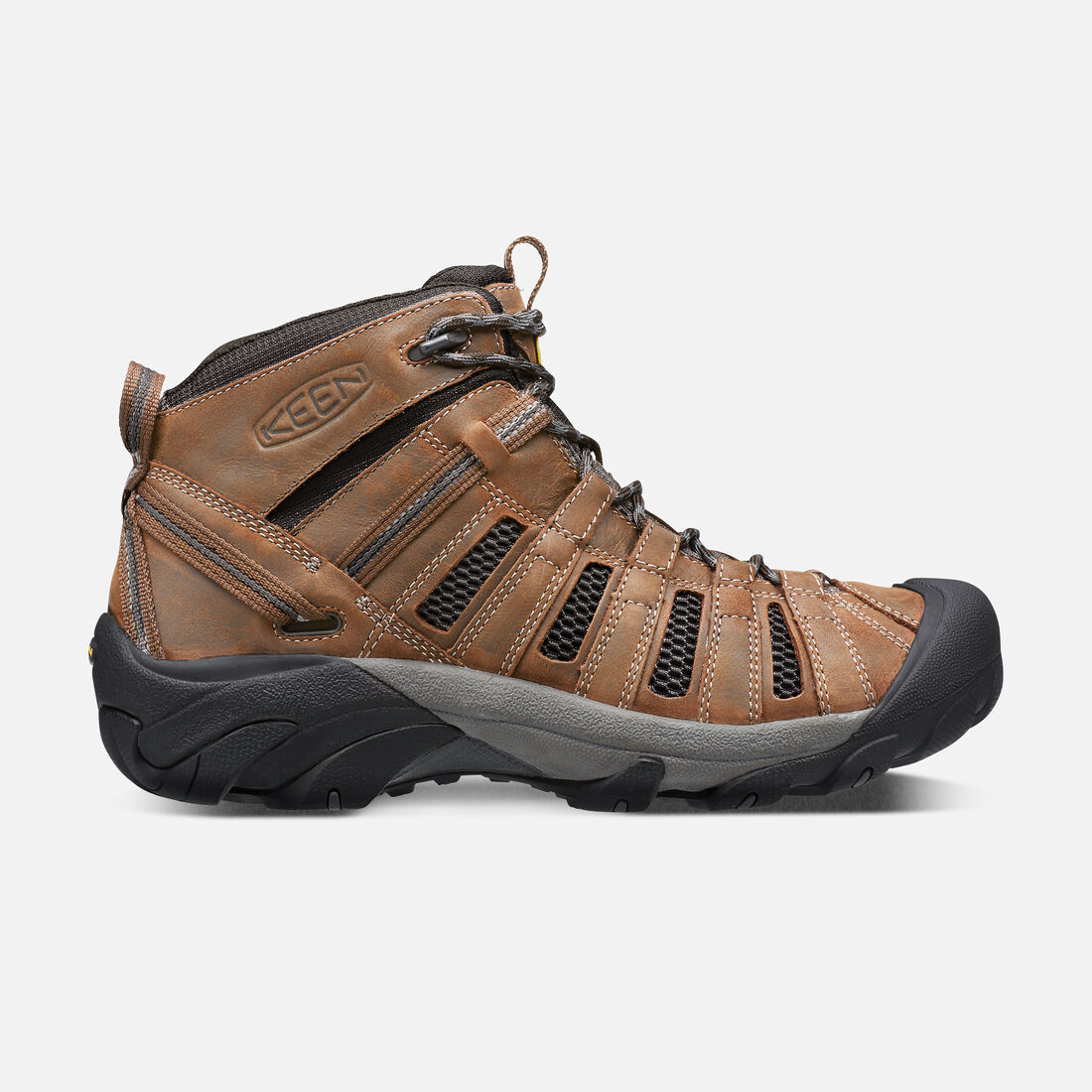 Men's Voyageur Mid in Cascade Brown/Raven - large view.