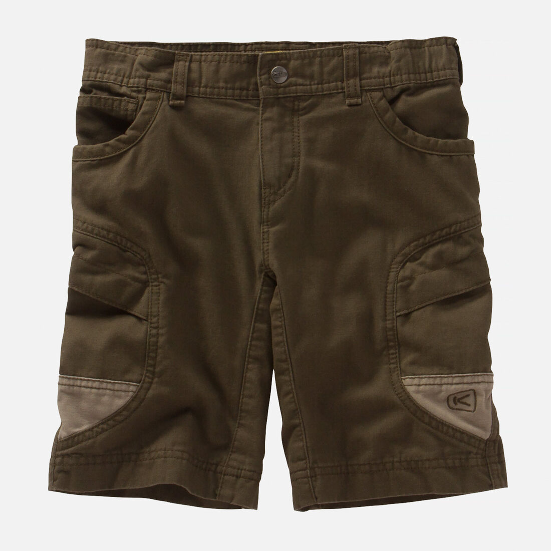 Kids' Newport Short in Olive Green/Khaki - large view.