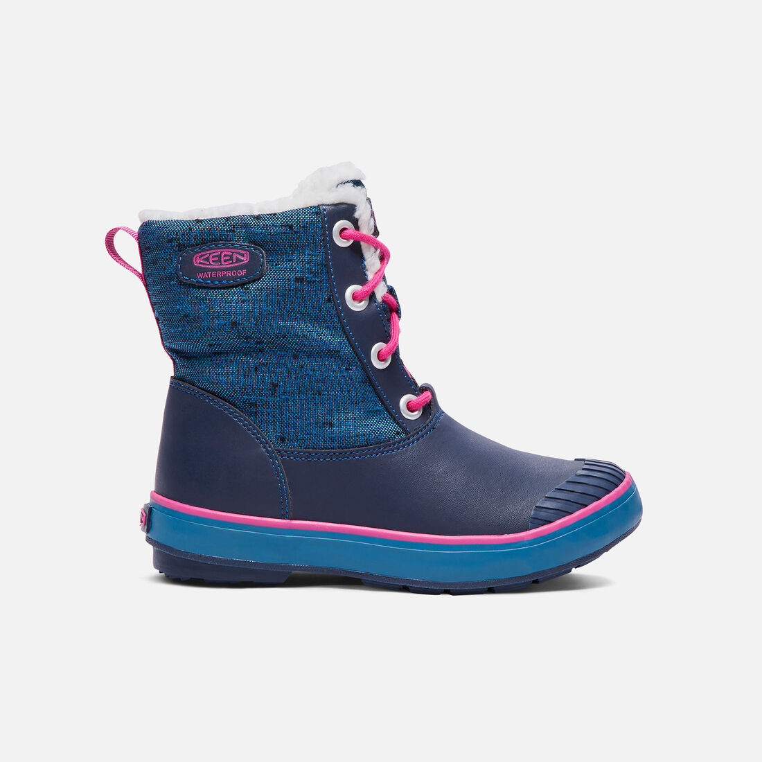 Big Kids' Elsa Boot in Ink Blue/Very Berry - large view.