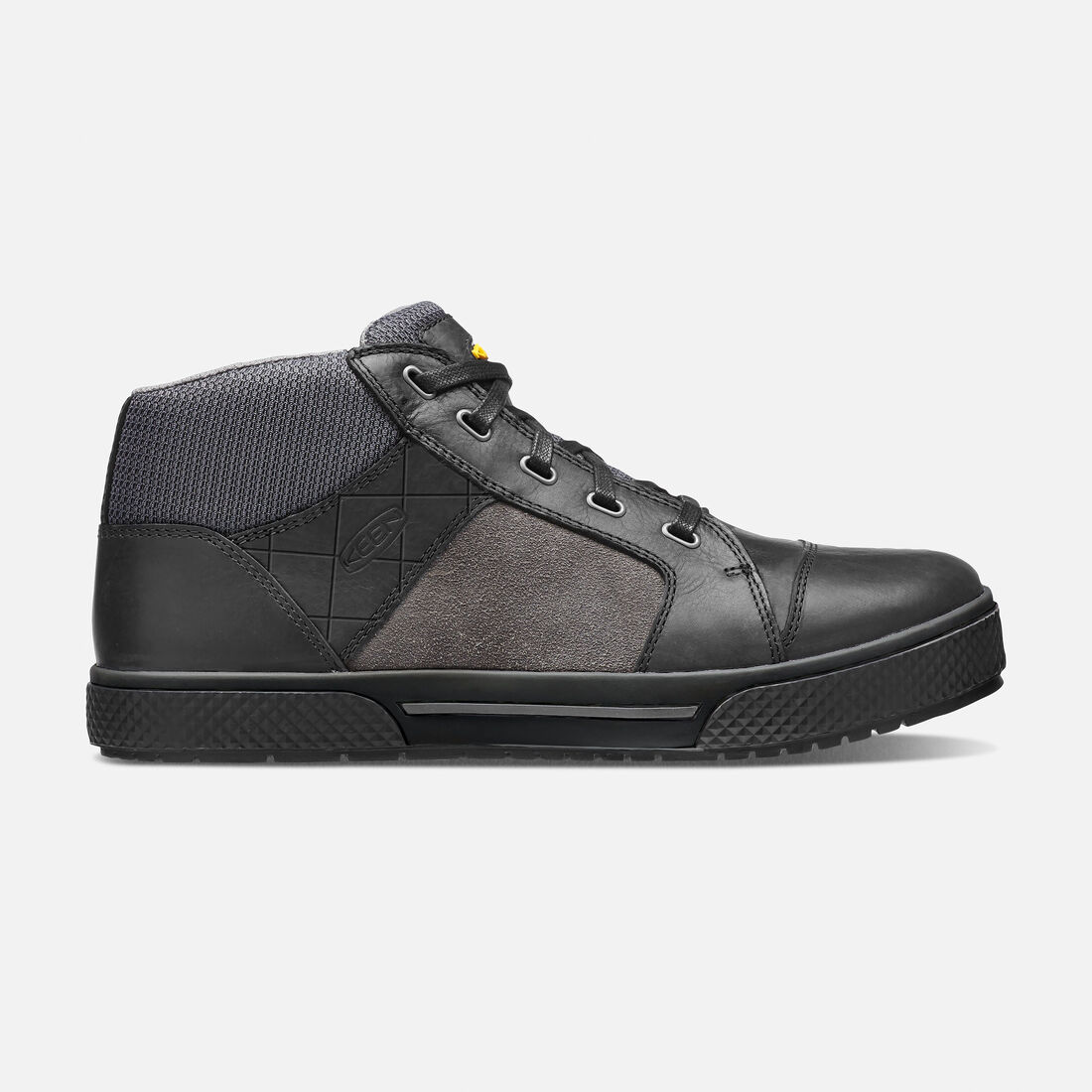 Men's Destin Mid (Steel Toe) in Black/Gargoyle - large view.