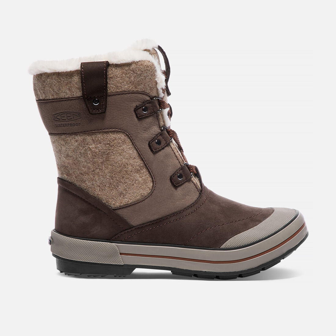 Women's ELSA PREMIUM Waterproof Mid in Espresso/Montana Grape - large view.