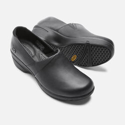 Women's Mora Service Clog in Black - small view.