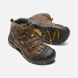 Men's Braddock Mid Waterproof (Steel Toe) in Cascade Brown/Tawny Olive - small view.