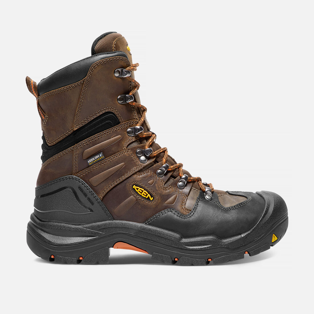 Men's COBURG 8' Waterproof (Steel Toe) in Cascade Brown/Brindle - large view.
