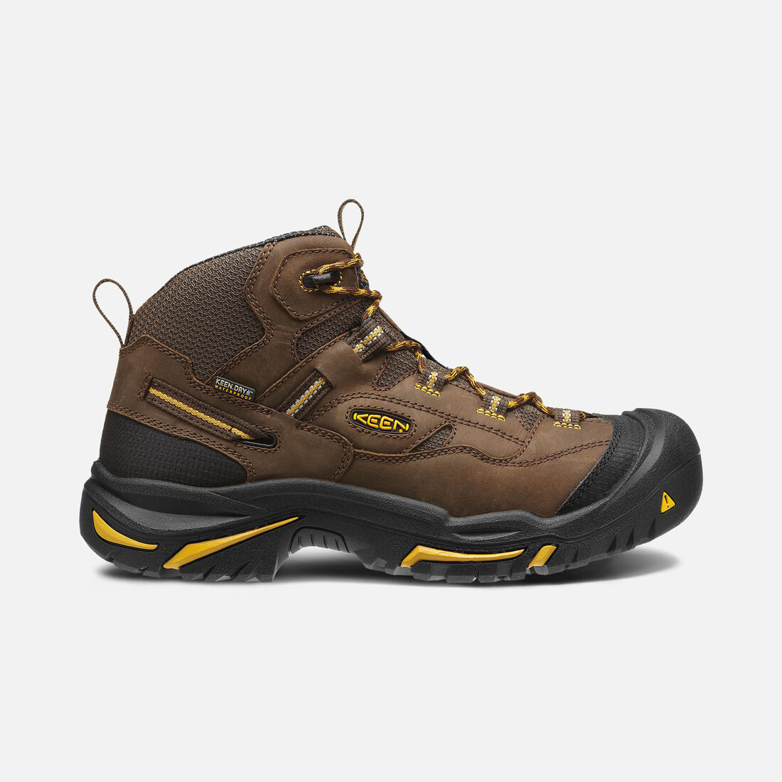 Men's Braddock Mid Waterproof (Steel Toe) in Cascade Brown/Tawny Olive - large view.