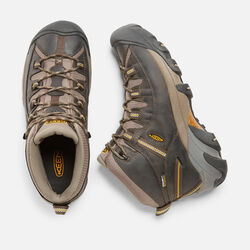 Men's Targhee II Mid Wide in Black Olive/Yellow - small view.