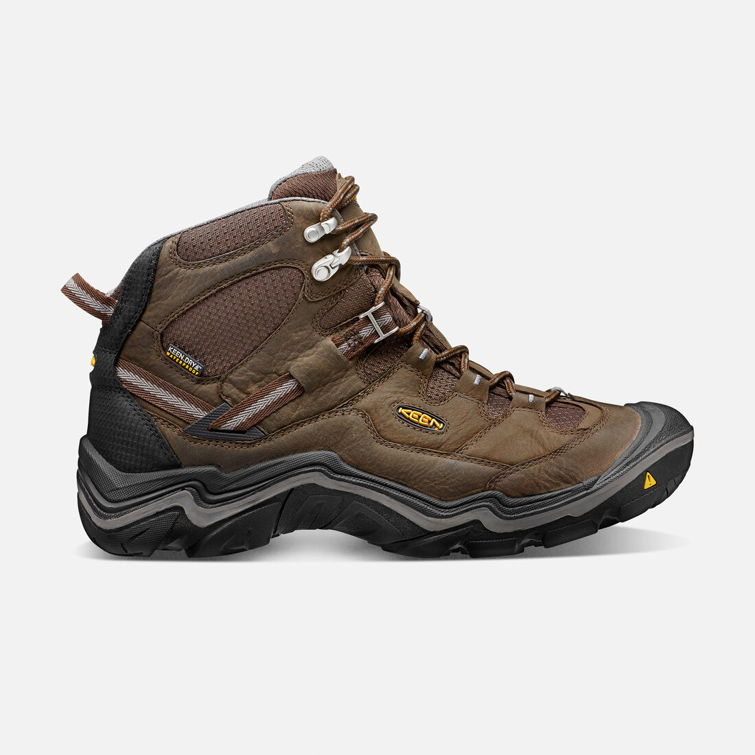 Men's Durand Mid Waterproof Wide in Cascade Brown/Gargoyle - large view.