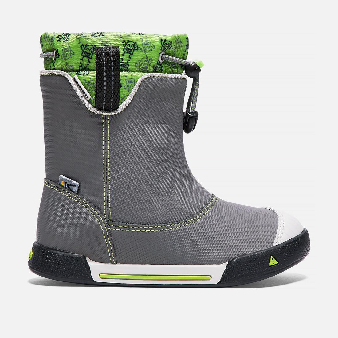 Little Kids' Encanto Waterproof Boot in Gargoyle/Greenery - large view.