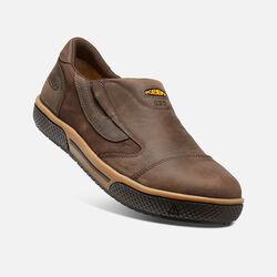 Men's Destin Slip-On ESD (Steel Toe) in Cascade Brown - small view.