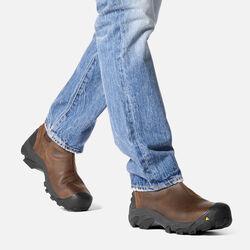 Men's Detroit Slip-On (Steel Toe) in  - on-body view.