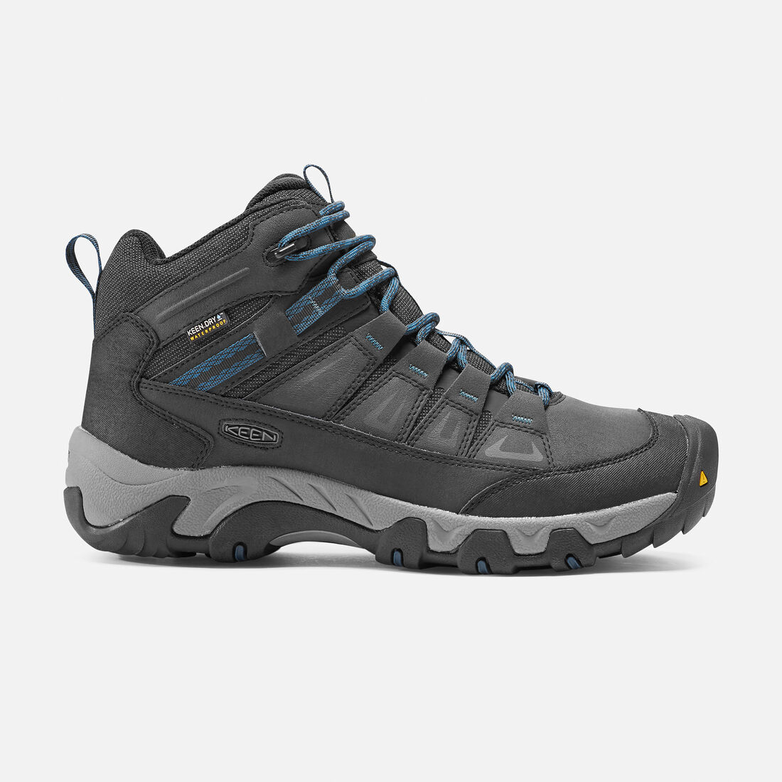 Men's Oakridge Polar Waterproof Boot in Black/Ink Blue - large view.