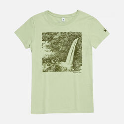 Women's Birthplace of Rivers, WV T-Shirt in Green Pea - small view.