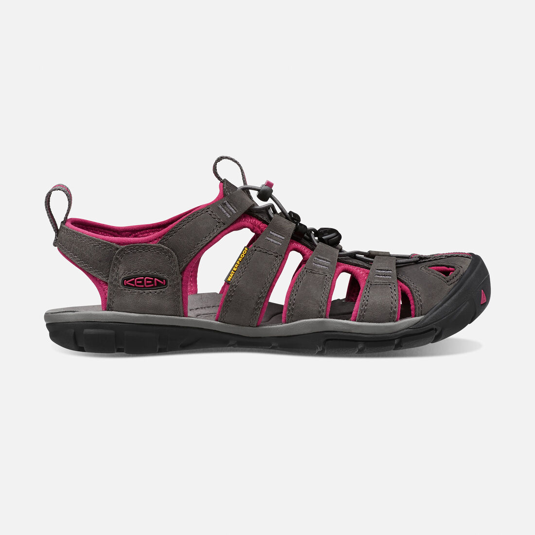 Women's Clearwater Leather CNX in Magnet/Sangria - large view.