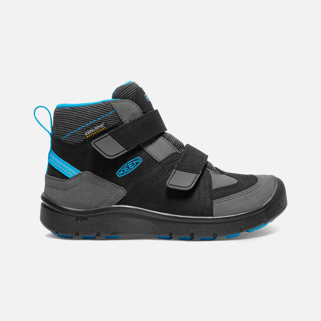 Big Kids' HIKEPORT MID STRAP Waterproof in Black/Blue Jewel - large view.
