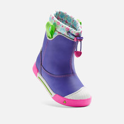 Little Kids' Encanto Waterproof Boot in Liberty/Very Berry - small view.