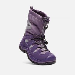 Big Kids' Winterport II Waterproof in Purple Plumeria/Alloy - small view.