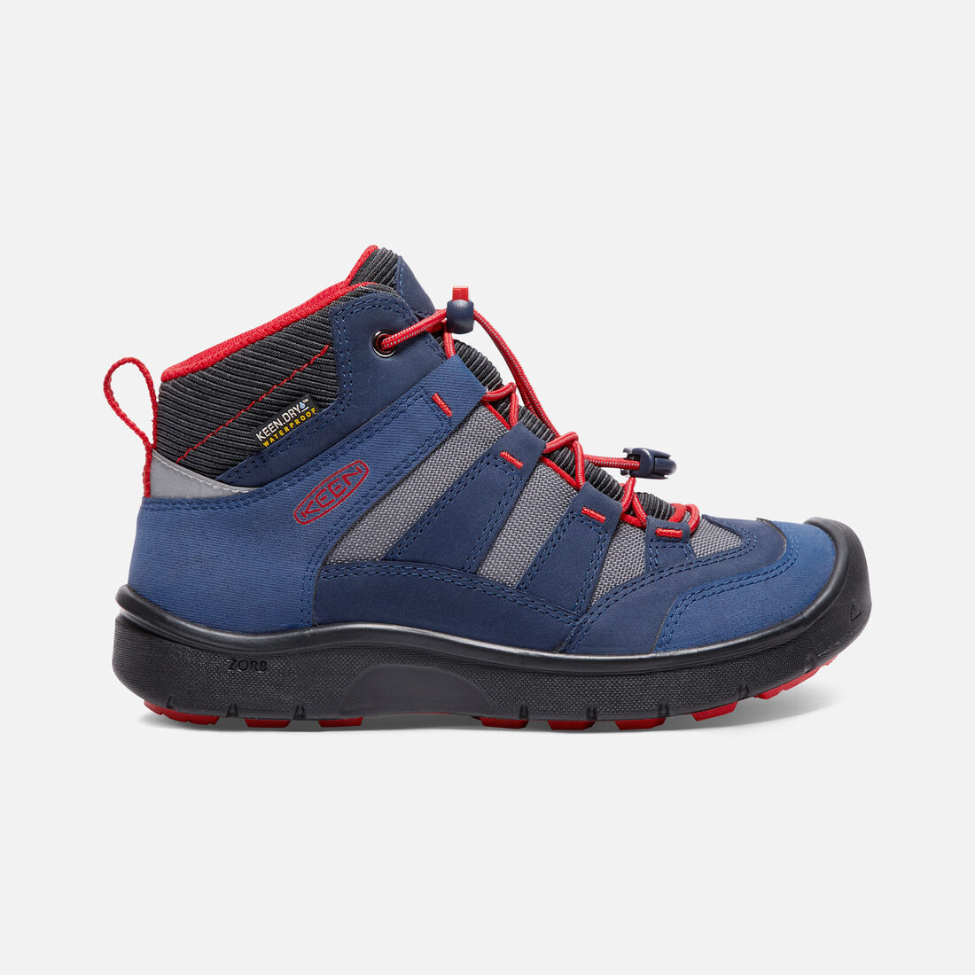 Big Kids' HIKEPORT MID Waterproof in Dress Blues/Fiery Red - large view.