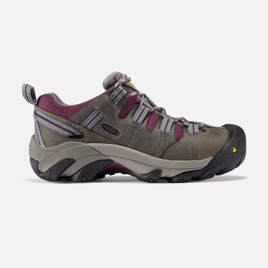 Women's Detroit Low (Steel Toe) in Monument/Amaranth - large view.