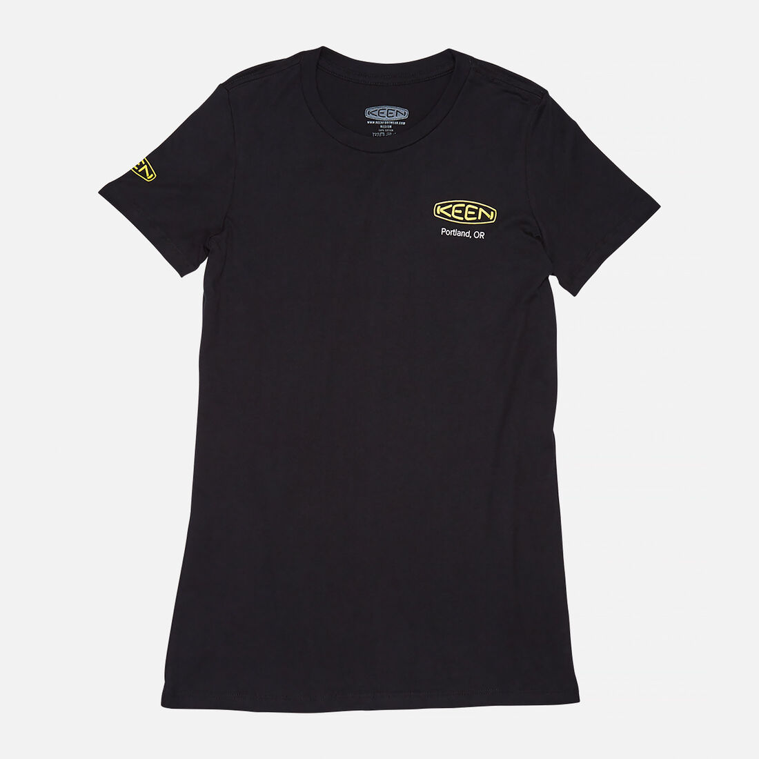 Women's KEEN PDX T-SHIRT in Black - large view.