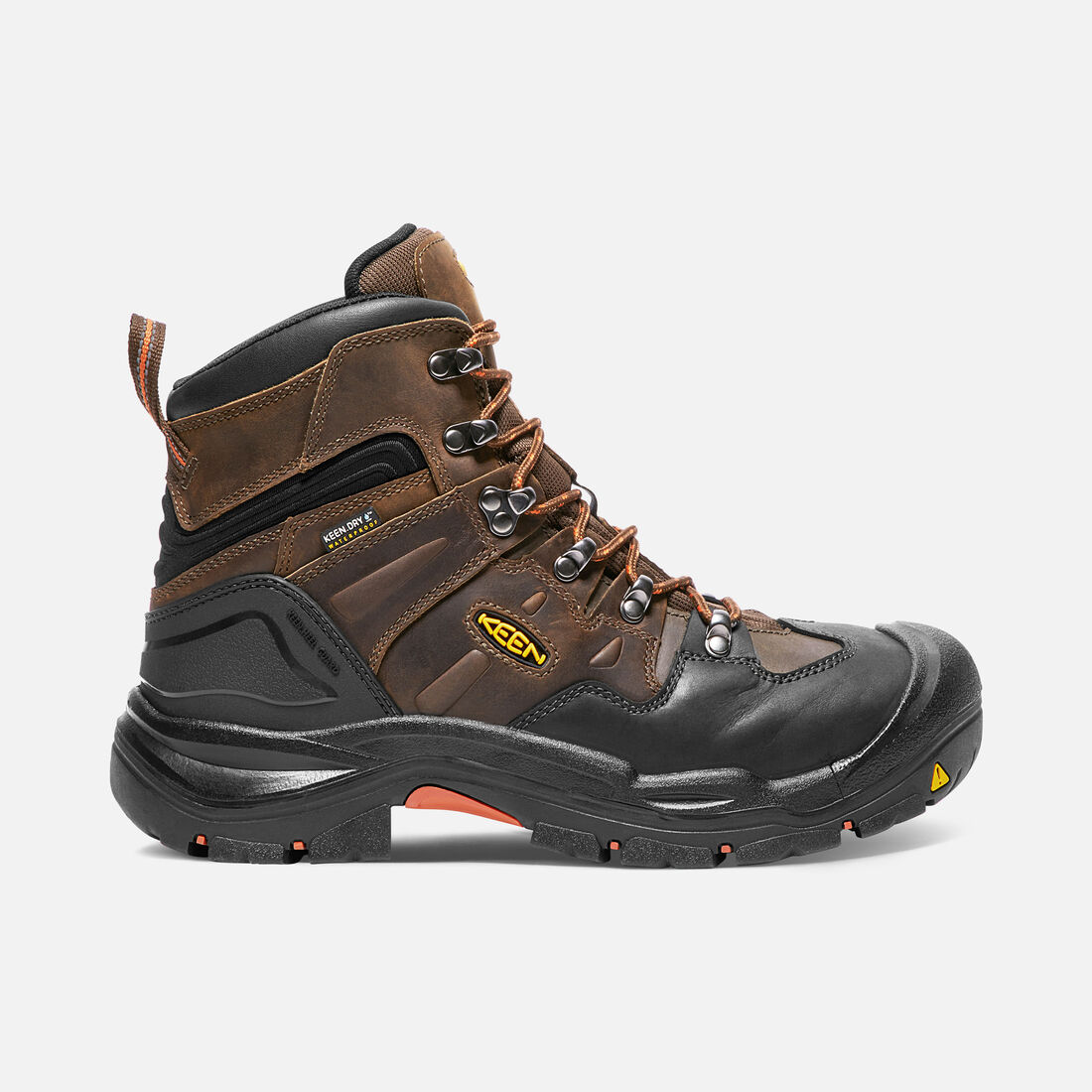 Men's COBURG 6' Waterproof (Steel Toe) in Cascade Brown/Brindle - large view.