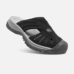 Women's Rose Slide in Black/Neutral Gray - small view.