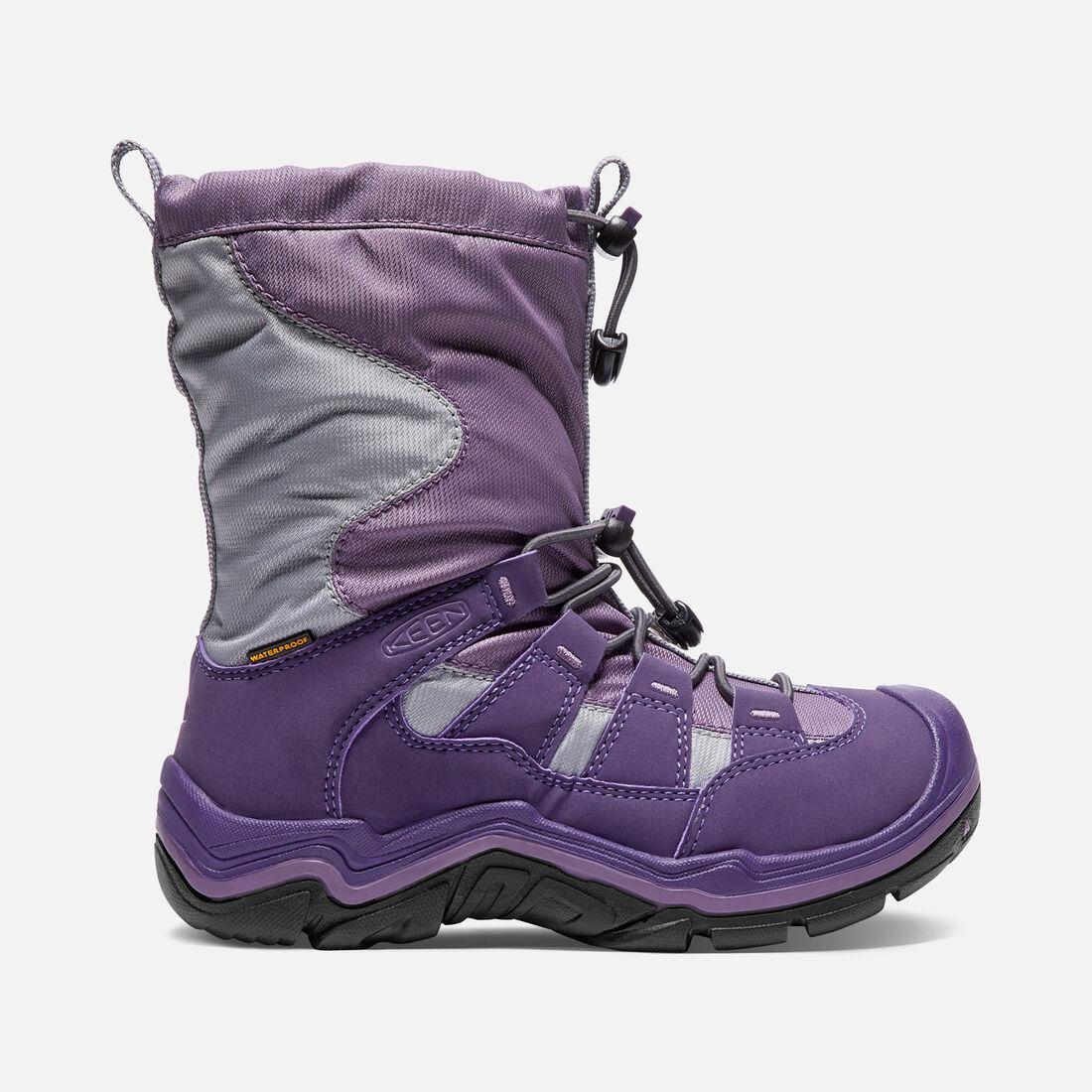 Little Kids' Winterport II Waterproof in Purple Plumeria/Alloy - large view.