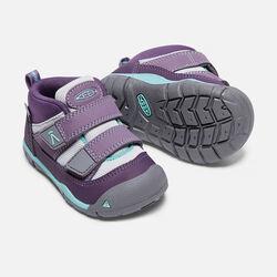 Toddlers' Peek-A-Shoe in Purple Plumeria/Sweet Lavender - small view.