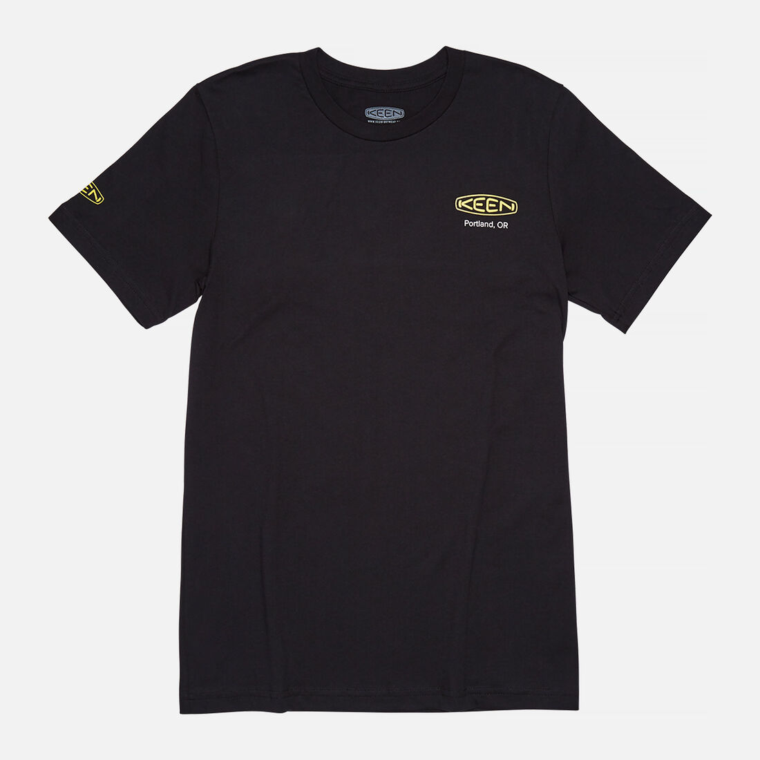 Men's KEEN PDX T-SHIRT in Black - large view.