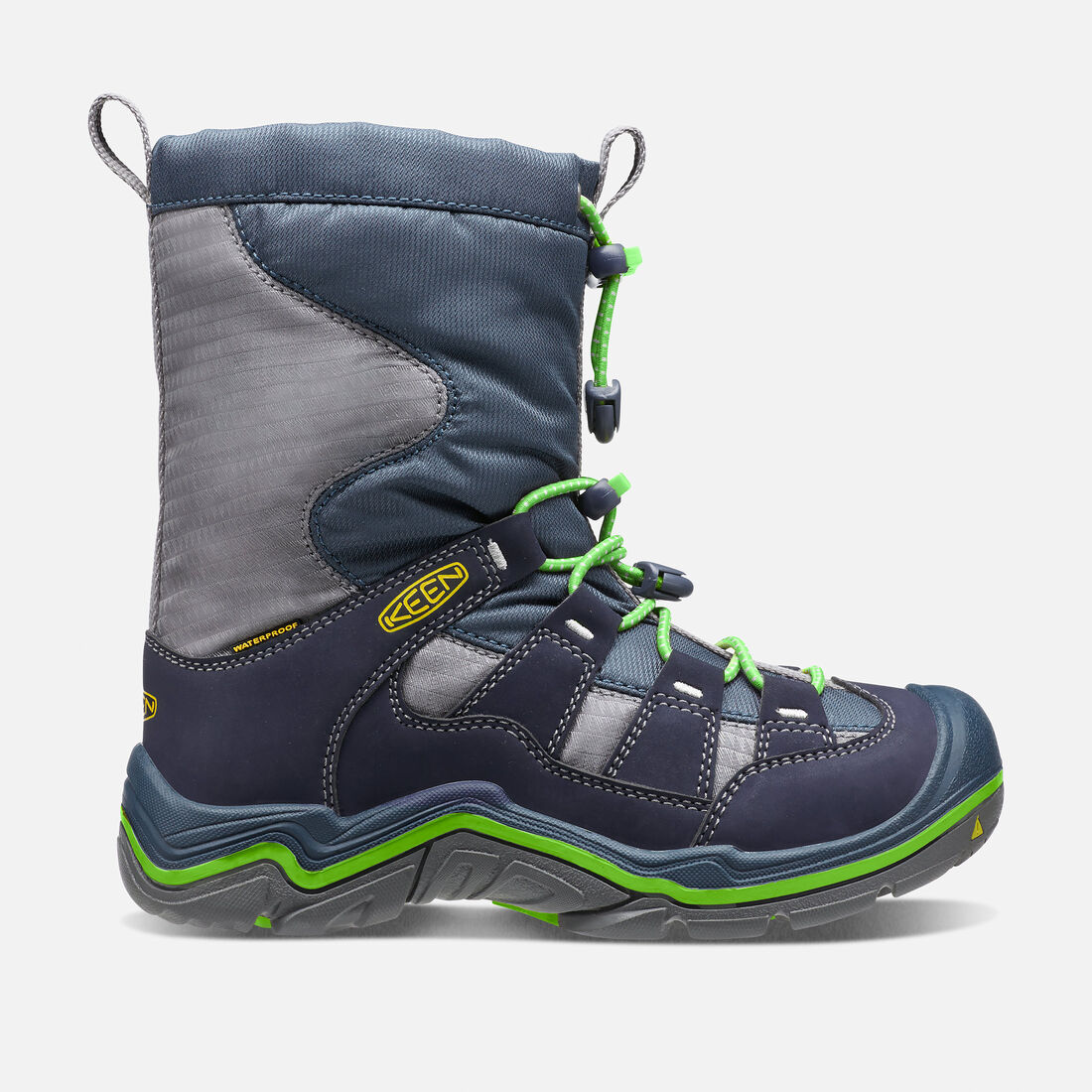 Big Kids' Winterport II Waterproof in Midnight Navy/Jasmine Green - large view.