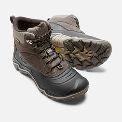 Men's Durand Polar Shell in Black Olive/Brindle - small view.