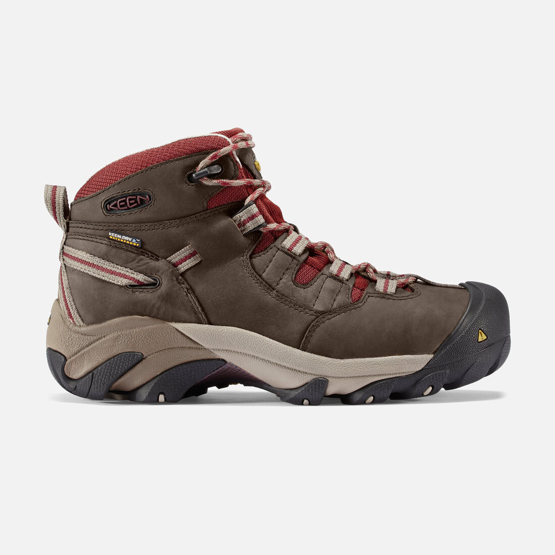 Women's Detroit Mid (Steel Toe) in Black Olive/Madder Brown - large view.