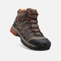 Men's Omaha Waterproof Boot (Steel Toe) in Black Olive/Gingerbread - small view.