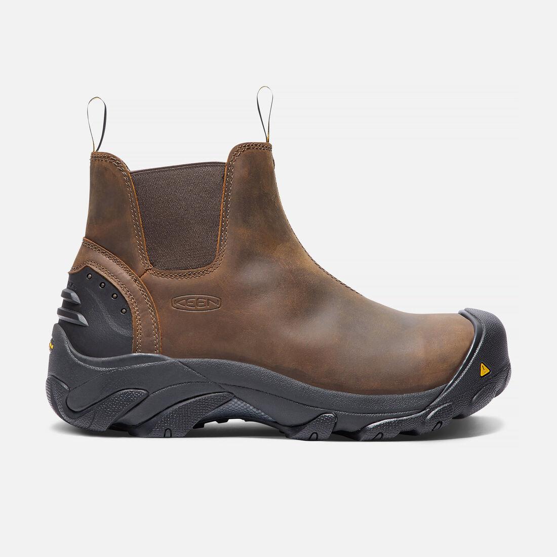 Men's Detroit Slip-On (Steel Toe) in Cascade Brown - large view.