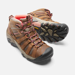 Women's Voyageur Mid in Cascade Brown/Fusion Coral - small view.