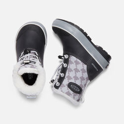 Little Kids' Elsa Boot in Black/Houndstooth - small view.