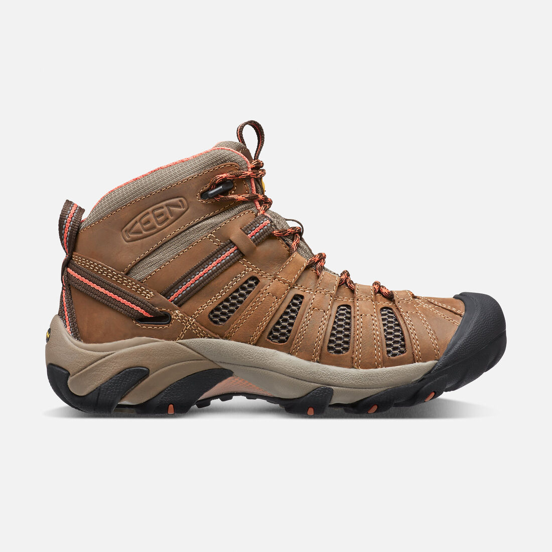 Women's Voyageur Mid in Cascade Brown/Fusion Coral - large view.