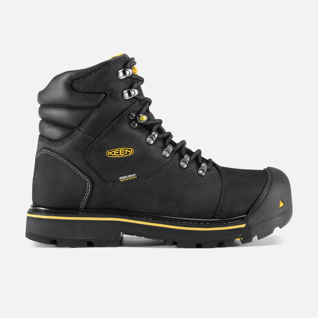 Men's Milwaukee Waterproof (Steel Toe) in Black - large view.