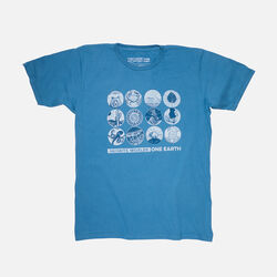Men's Keen Earth Day T-Shirt in Ocean - small view.