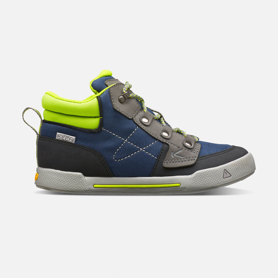 Big Kids' Encanto Wesley High Top in Dress Blues/Macaw - large view.
