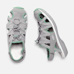 Women's Sage Sandal in Neutral Gray/Malachite - small view.