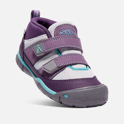 Little Kids' Peek-A-Shoe in Purple Plumeria/Sweet Lavender - small view.