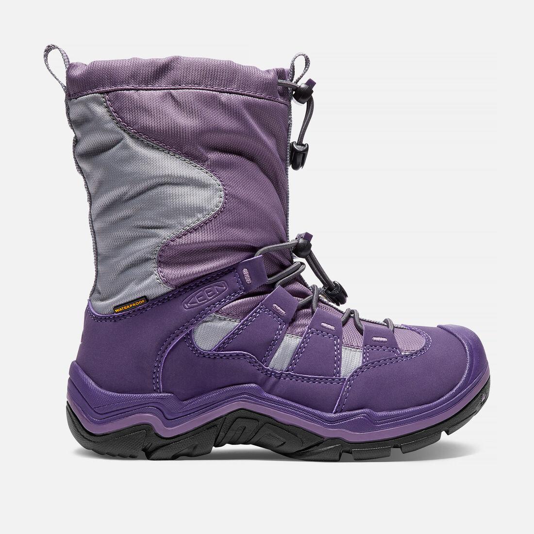 Big Kids' Winterport II Waterproof in Purple Plumeria/Alloy - large view.
